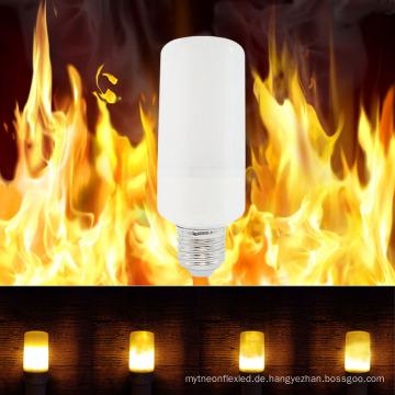 Flackern Sie Emulation-Weihnachtsdekor 85V-265V 3528SMD E27 LED Mais-dynamische Flammen-Effekt-Feuerbirne