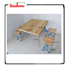 Portable Foldable Camping Wood Table With OEM Printing
