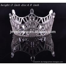 Brauthaar-Zusätze volle runde Rhinestone-Tiara und Krone für Verkauf