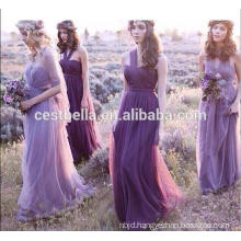 One Shoulder or Off shoulder Sweet Romantic Purple Bridesmaid Dress 2016