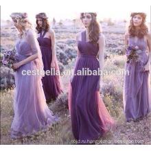 Одно плечо или с плеча милая романтический фиолетовый платье невесты 2016