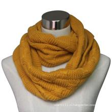 Леди мода акриловые трикотажные бесконечности шарф (YKY4313)