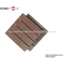 INTERLOCKAGE DIY DECK TILE MADE IN VIETNAM WPC MATERIAU IMPERMÉABLE, RESISTANT AUX UV, RECYCLABLE, NON TOXIQUE