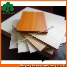 O papel da melamina da qualidade enfrentou o MDF / MDF laminado / o MDF folheado madeira