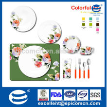 hot sale floral design new bone china dinner set with dinner plate