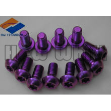 purple Gr5 titanium disc rotor bolt M5*10