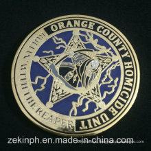 Großhandelsqualität-Metallüberzug-Goldharte Email-Münzen