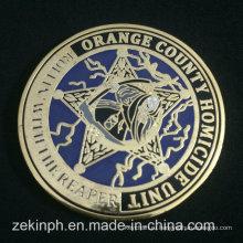 Оптовая Высокое Качество Металла Плакировкой Золота Твердая Эмаль Монеты