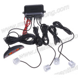 car parking sensor with 4 probes with sound alarm led light bar alarm