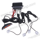 car parking sensor with 4 probes with sound alarm led light bar alarm