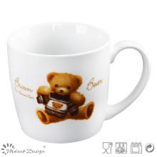 Diseño de oso y café Nueva taza de hueso de China