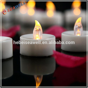Flameless Tealights Bateri dikendalikan Lilin LED Flickering