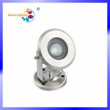 Mini lámpara subacuática LED de acero inoxidable de alta calidad de 1W
