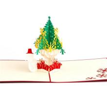 travail manuel bon marché décoration de noël carte de voeux 3D fait main