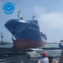 barco y airbag marino china nave en movimiento lanzando airbag