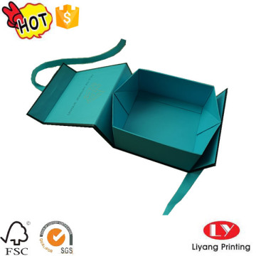 Fashion folding paper jewelry packaging with magnet