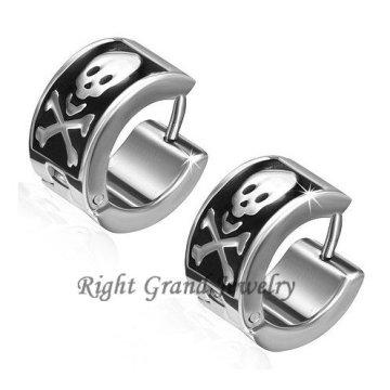 Weihnachtsgeschenke 316L Stahl Schädel Ohr Piercing Ringe