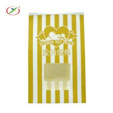 Bolsa de palomitas de maíz bolsa de papel de embalaje con ventana