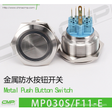 CMP 30mm ring illuminated pushbutton switch with CE and TUV