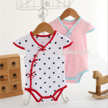 Треугольник лето девочка ползунки Cap рукавом cheongsam стиль расклешенный рукав romper младенца
