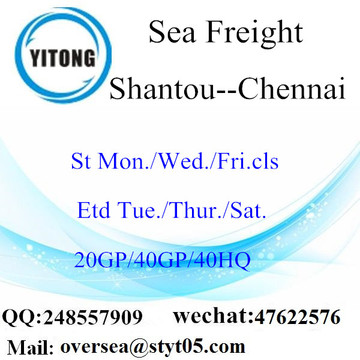 Shantou Port Sea Freight Shipping To Chennai