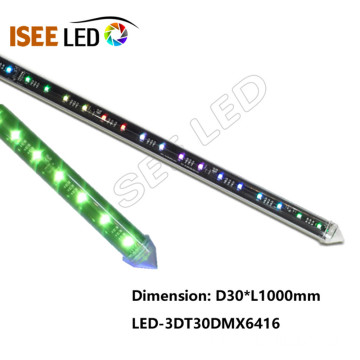 100cm clair 12V Disco 3D LED Meteor Tube