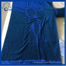 Serviette 100% coton en couleur pleine couleur (QHS7786)