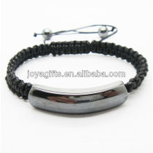 magnetic hematite woven bracelet