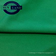 Tissu 100% polyester piqué de trame piqué de tricot de polyester pour vêtements de sport