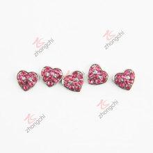 Encantos del corazón de los cristales rojos para el colgante flotante (FC)