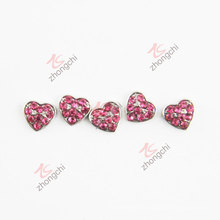Red Crystals Heart Charms for Floating Locket (FC)