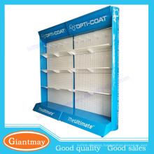 pagboard hardware exhibition metal display stand with light box header