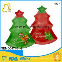дешевые качества пластик меламин Рождественская елка формы лоток