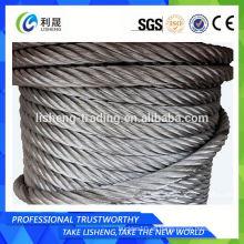 8 * 19 Cuerda de alambre de acero galvanizado