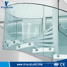 Перила полого стекла / закаленное ламинированное тонированное светоотражающее строительное стекло с Ce