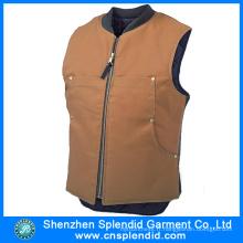 Veste de moto en cuir brun de haute qualité de vêtements chinois