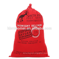 New Fashion Red Color Christmas Drawstring Decorative Bag Cotton Canvas Christmas Tree Bag