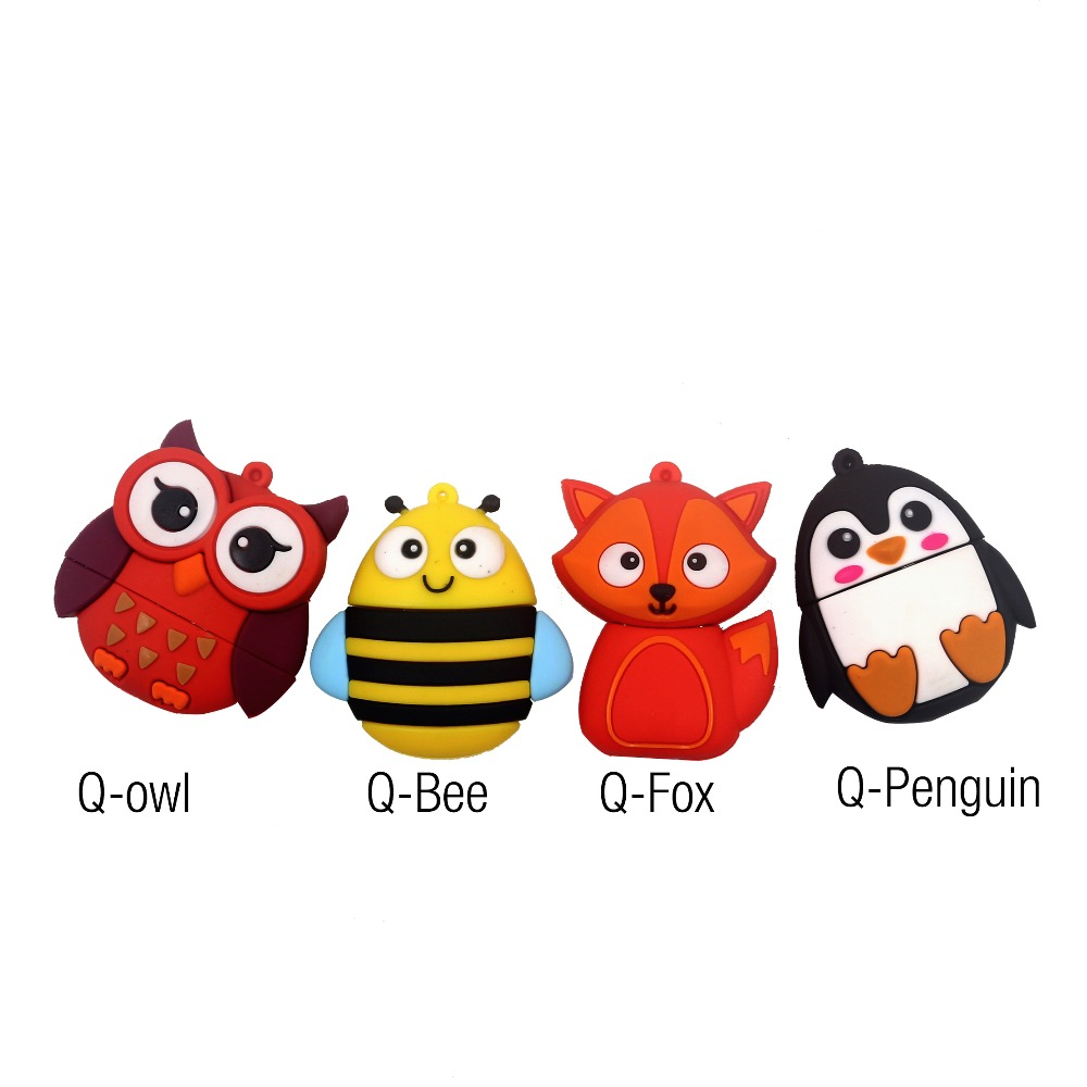 Fashion-Q-Animal-Owl-Penguin-Fox-Bee-usb-flash-drive-pendrive-usb-stick64gb-32gb-4gb8gb16gb-flashdrive