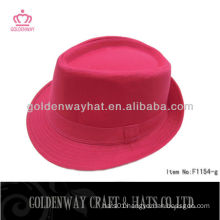 Cotton twill red fedora hat for girls