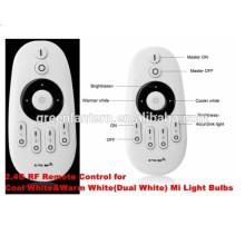 Controlador remoto RF sensible al tacto, control de hasta 4 zonas WW / CW colores