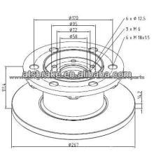 Тормозной диск TRW высококачественные автозапчасти
