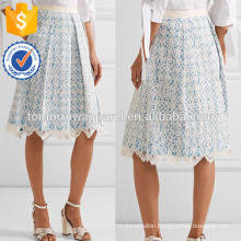 New Fashion Lace And Gingham Cotton-blend Skirt DEM/DOM Manufacture Wholesale Fashion Women Apparel (TA5096S)