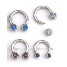 Crystal Ball Body Jewelry Horseshoes Nose Ring