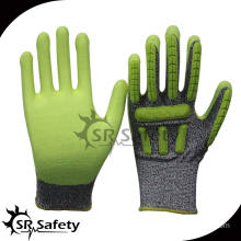 SRSAFETY Cut Resistant Impact Gloves/TPR Cut Resistant Gloves/Impact Resistant TPR Gloves