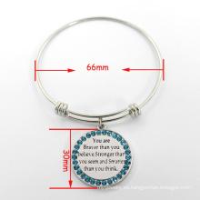 Elegante brazalete de alambre extensible brazalete de plata ajustable