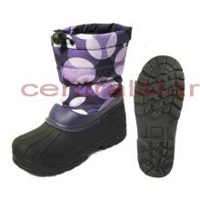 Fashion Girls Pruple Waterproof Oxford Winter Snow Boots (SB012)