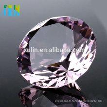 Anniversaire Cadeau 40mm K9 Cristal Clair Diamant Bijoux Cristal Ornements Artisanats