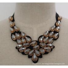 2016 Handmade Bead Kristall Mode Charme Chunky Bib Kostüm Chokerkragen Halskette (JE0006)