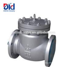 A única bolacha líquida do disco forjou a função de uma pressão da válvula de verificação do balanço do dobro do Ansi 150lb do aço de molde