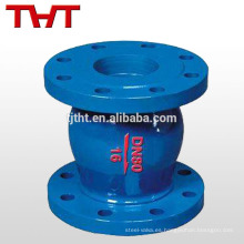 pn16 válvula de retención con poco ruido bridada por resorte del arrabio